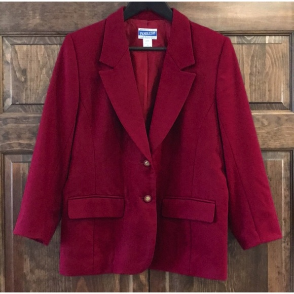 Pendleton Jackets & Blazers - Pendleton merlot color blazer jacket petite 12